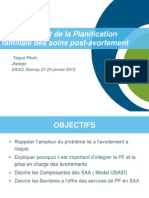 Family Planning and Post Abortion Care/Planification familiale des soins post-avortement