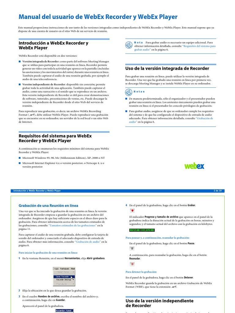 Manual Usuario WebEx
