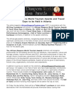 African Diaspora World Tourism Awards and Travel Expo Press Release and Agenda (1)