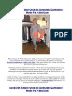 Sandwich Kläder Online Sandwich Damkläder Mode På Nätet Dam