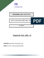 Memória Box Culvert 2.5X2.0 AT20