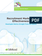SilkRoad Recruitment Marketing Effectiveness 2013