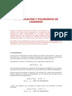 Interpolacionde Lagrange