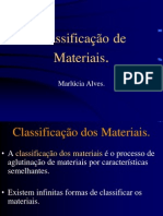 Classificação de Materiais.