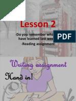 Lesson 2 Life Sciences