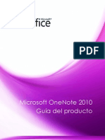 Microsoft OneNote 2010 Product Guide