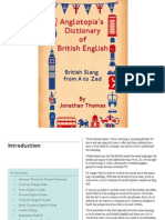 Anglotopia's Dictionary of British English - PDF Sample