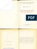 Fredi Chiappelli (1954) Studi Sul Linguaggio Di Machiavelli