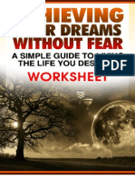 Achieving Your Dreams Without Fear Worksheet