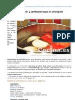 Blogcocina.es-tiempos de Coccin y Cantidad de Agua en Olla Rpida