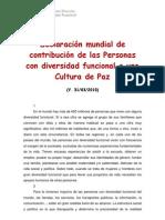 Declaracion Mundial Aportaciones Personas Diversidad Funcional (UNESCO)