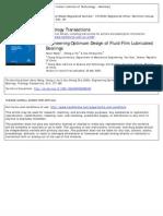 2000_Engineering Optimum Design of Fluid-Film Lubricated
