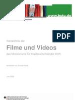 Aktenverzeichnis Mfs Filme Videos