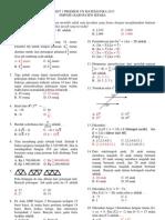 Tryout Matematika Smp n 2 Pecangaan 1_paket 5_2013