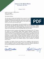 Letter to Speaker John Boehner from 21 Members of Congress regarding Sequestration