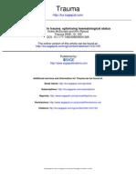 Trauma--Coagulopathy in Trauma, Optimising Haematological Status