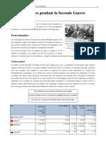 Pertes Humaines Pendant La Seconde Guerre Mondiale