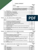 Course Contents (SFTC)