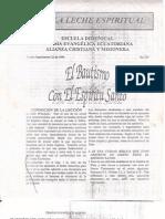Bautismo Con El Espiritu Santo, Leche Espiritual Miguel Lecaro