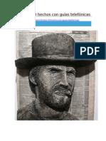 Retratos 3D hechos con guías telefónicas  http