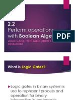Computer Organization - Boolean Algebra