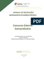 Manual de Instruções - Aperfeiçoamento da Candidatura Eletrónica