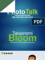 PhotoTalk - Taksonomi Bloom