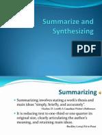 Summarize and Synthesizing
