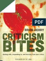 Criticism Bites - Brian Berry