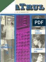 Revista Teatrul Nr 10 Anul XVI Octombrie 1971