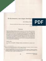 Diccionario e ideología