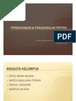 Materi Presentasi Tugas Perencanaan & Penjadwalan Proyek