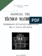 Manual Tecnico Del Matricero