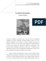 La Méthode Interprétative - Francisco Domínguez