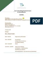 Accreditation Seminar- Dubai Agenda