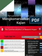 Kaedah Penyelidikan - Penyebaran Hasil Kajian Dan Mengkomersialkan Projek Kajian
