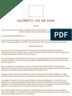 Decreto 193 de 2006