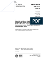 ISO 7500-1 - 2004 - Materiais Metalicos - Calibracao de Maquinas de Ensaio...
