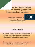 Opiniones alumnos FGUM y TCU sobre aprendizaje ingles.pptx