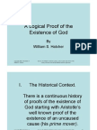 Hatcher, Logical Proof of the Existence of God