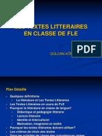 1-LES TEXTES LITTERAIRES EN CLASSE DE FLE.ppt