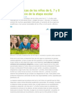 Características de los niños de 6