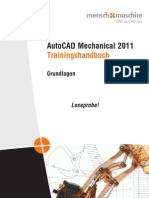 Leseprobe Trainingshandbuch AutoCAD Mechanical 2011 Grundlagen 18813