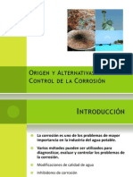 Origen y Control de la Corrosión