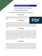 Ley Ambiental Organismo Ejecutivo Guatemala, Guatemala
