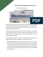 Resultado de Las Elecciones 2012