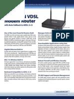 Datasheet Q1000 Wireless-N VDSL Modem Router