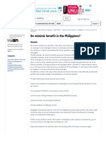 De Mgginimis Benefit in the Philippines