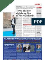 16.2.2013, 'Torna Alla Luce Dipinto Inedito Di Pietro Melandri', La Voce Di Romagna