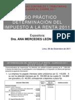 Caso práctico Determinación Impuesto a la Renta 2011